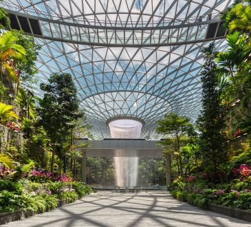 Singapore's Changi Airport, called the world's best airport, now touts the world's tallest indoor waterfall