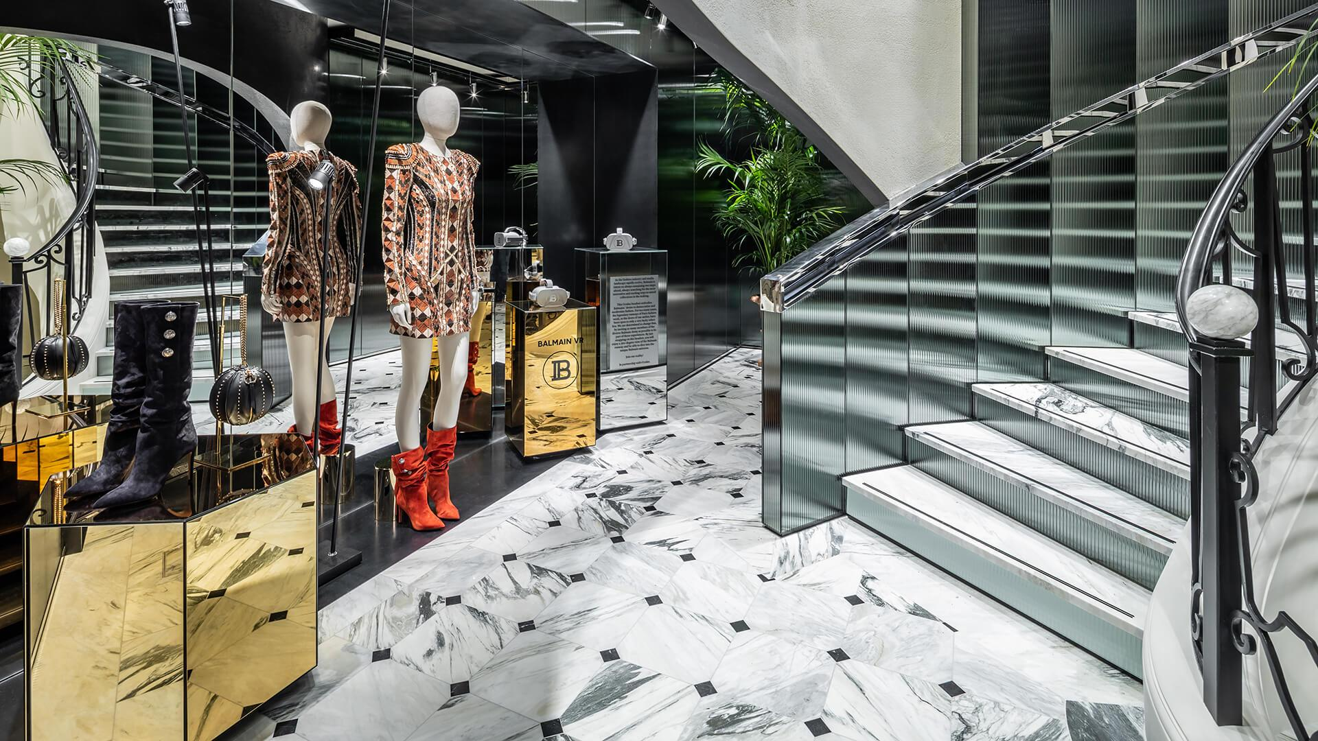 It's not in Versailles, but it might as well be: Balmain's new Paris flagship has its own hall of mirrors