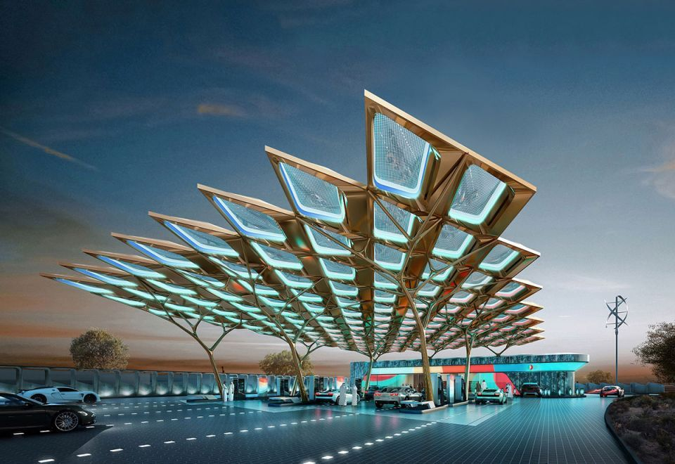 ENOC unveils 'Ghaf tree' inspired service station for Expo 2020 Dubai