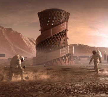 This 3D-printed tower might be the future of architecture on Mars