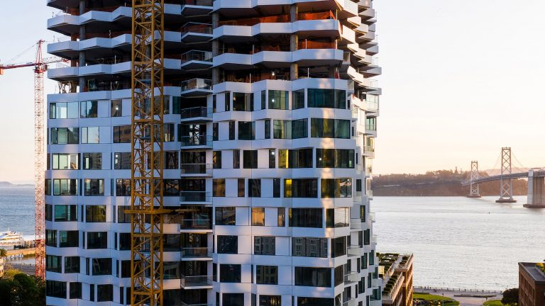 Studio Gang's spiralling Mira tower tops out in San Francisco