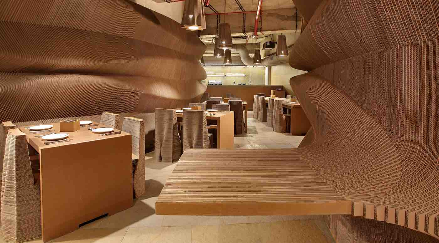 This Breathtaking Café Made Entirely Out of Cardboard Shows Just How Eco-Friendly Architecture Can Be