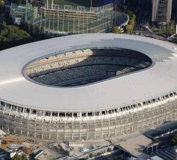 Olympics: Work complete on Tokyo Games centerpiece's wooden roof