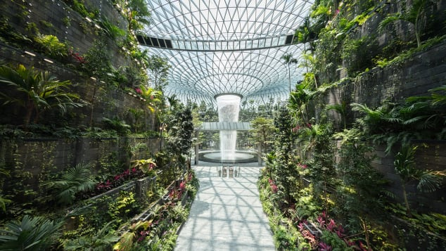 Inside Changi Airport Singapore's new 'Jewel,' home to world's tallest indoor waterfall