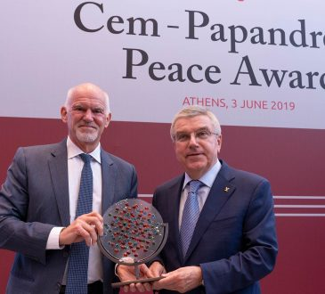 IOC President awarded international peace prize