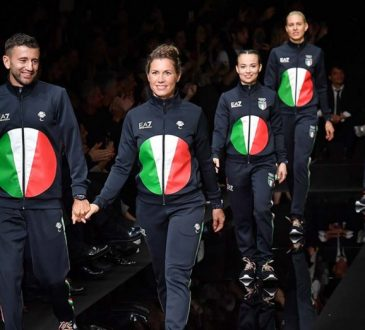 Armani Unveils Tokyo 2020 Summer Olympic Uniforms At Milan Fashion Show