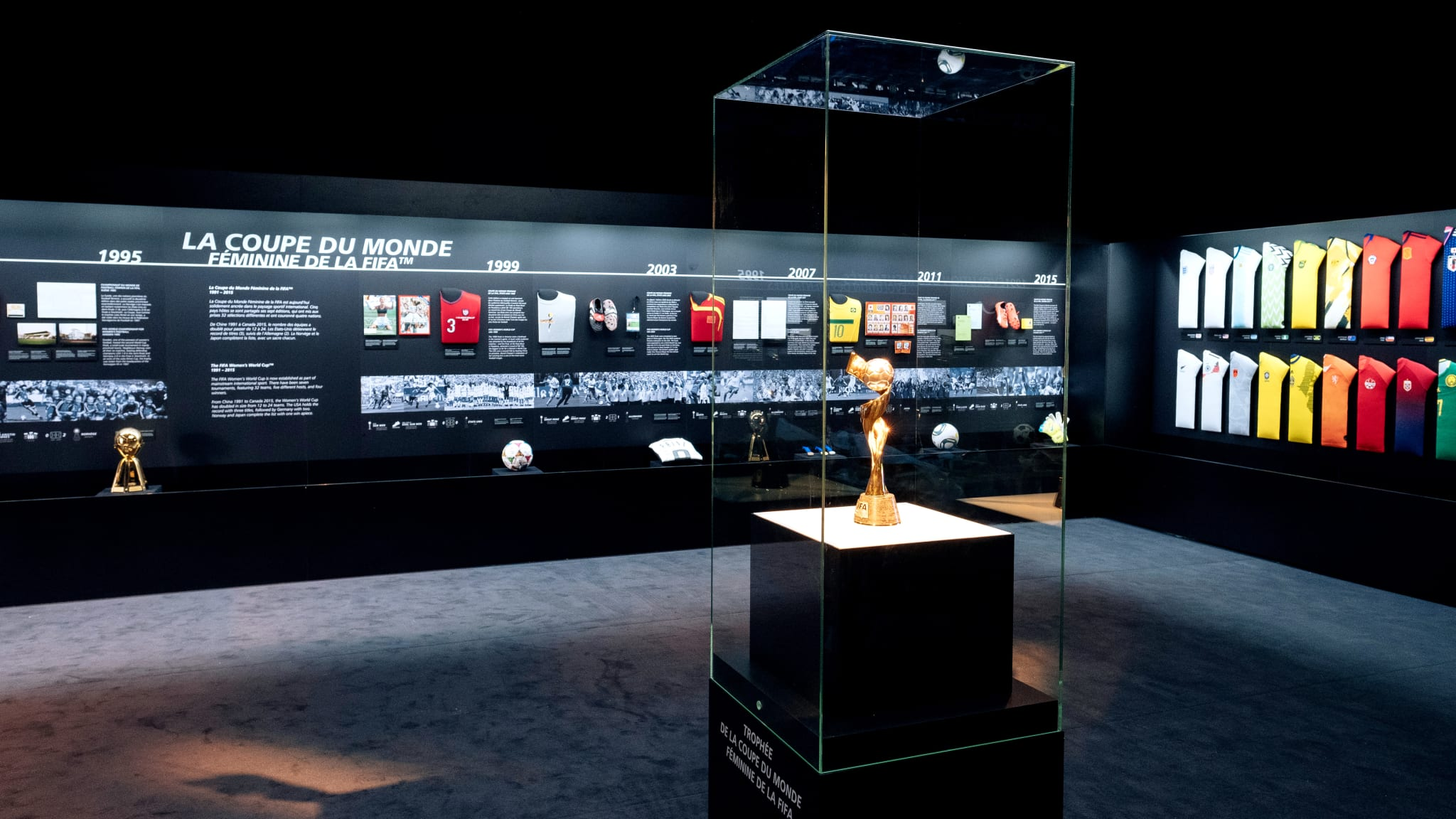 'The Women's Game' exhibition brought to you by the FIFA World Football Museum and Hyundai in Paris
