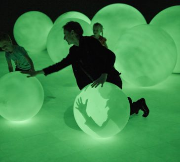 Daan Roosegaarde's Presence exhibition encourages visitors to make their mark