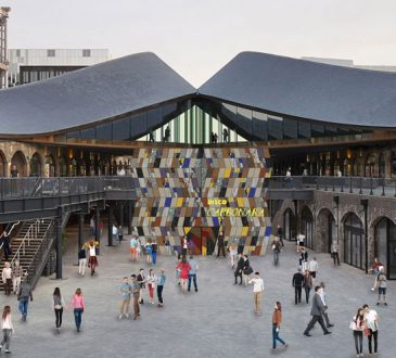 "London Design Festival unveils ""disco façade"" installation for King's Cross"
