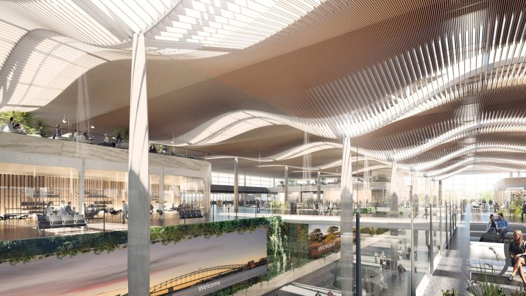Zaha Hadid Architects and Cox Architecture reveal visuals of Sydney airport