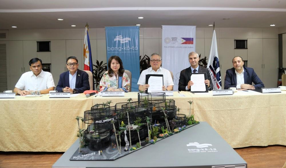 Contract signing for the construction of 'Bangkóta Philippines Pavilion' for EXPO 2020 Dubai