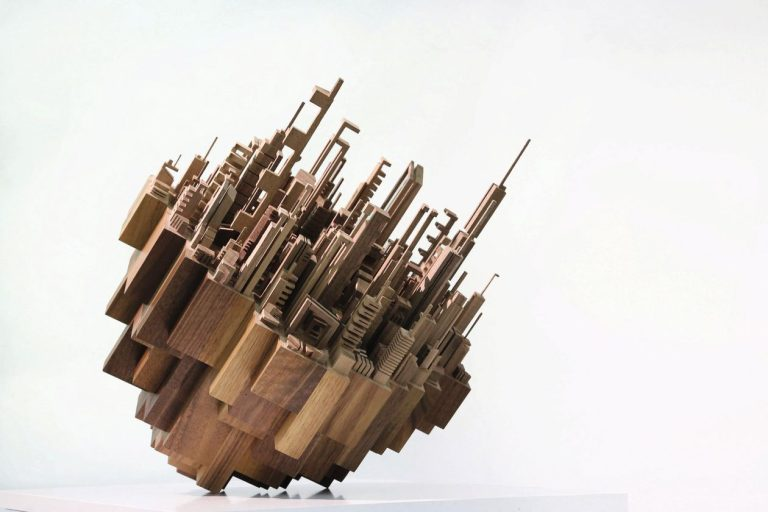 Geneva's M.A.D.Gallery Opens Exhibition of James McNabb's Sculptural Wooden Skylines