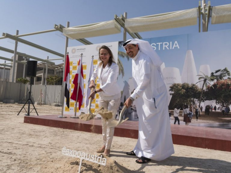 Austria lays foundation stone for pavilion at Expo 2020