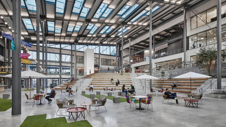 Want your office to be as convivial as a town square? Then design it like one