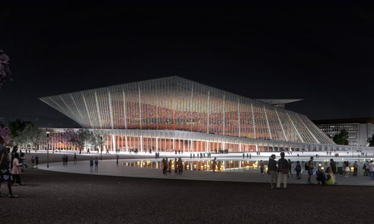 snøhetta wins competition to design the new xingtai grand theater in china