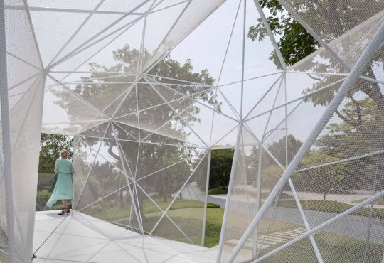 AIRLAB creates 3D-printed stainless steel pavilion for Singapore's Gardens by the Bay