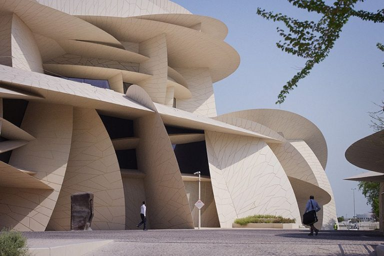 julien lanoo captures jean nouvel's national museum of qatar as series of rich compositions