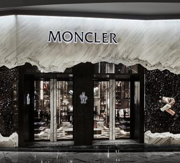 Fashion-retailer Moncler brings an iceberg to the desert