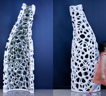 yong ju lee embeds plant life into architecture with 'moss tower' prototype