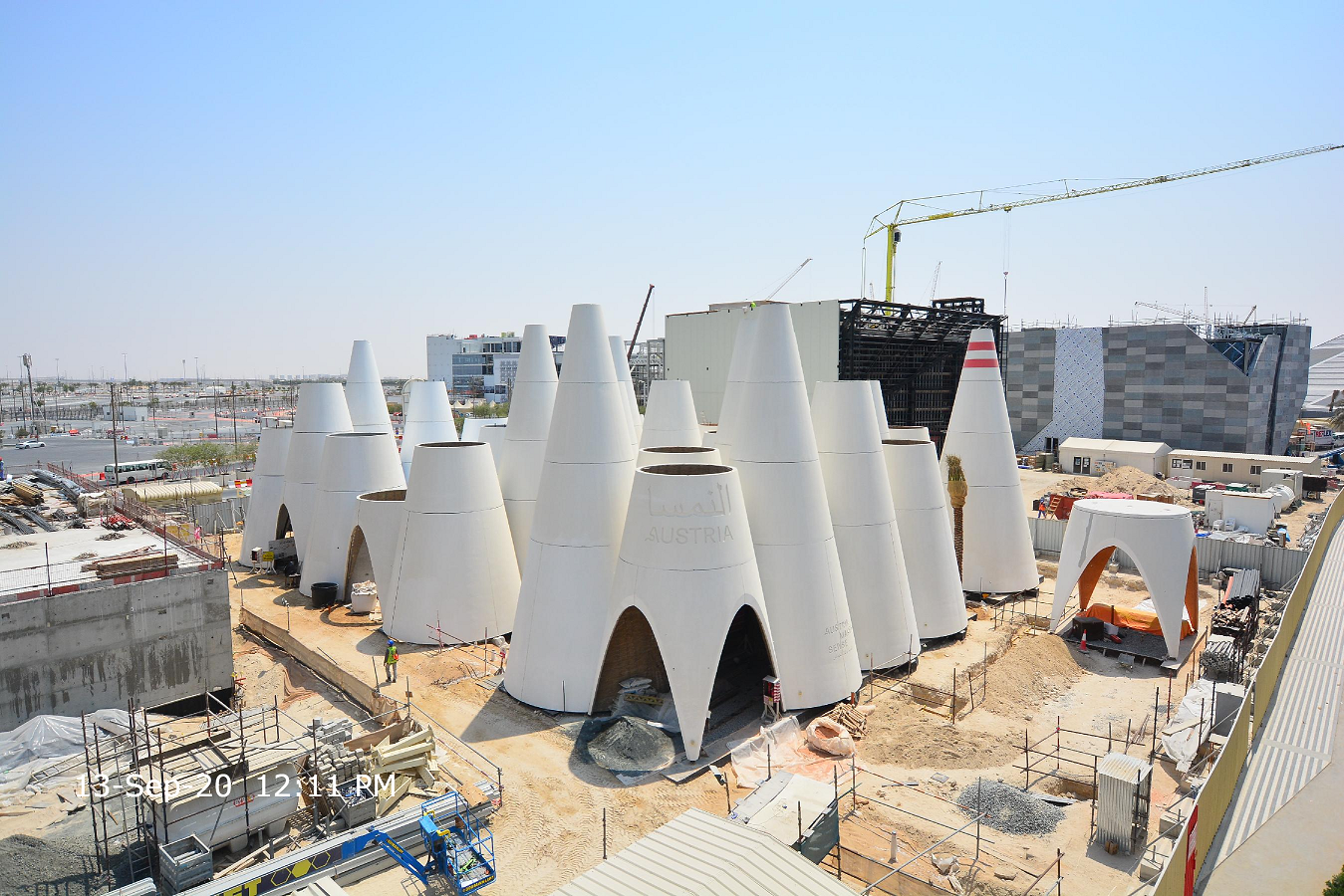 External construction for Austria Pavilion at Expo 2020 complete